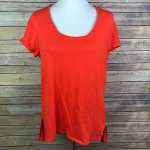 Dolan Left Coast Red Hi Lo Tunic Blouse
